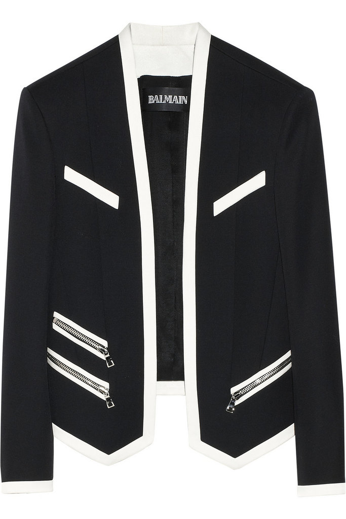 The sleek white trim on this wool jacket ($1,026, originally $2,565) will add instant edge to any office (or weekend!) look.