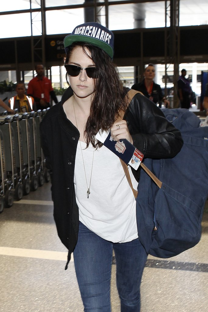 Kristen Stewart arrived at LAX on Monday.