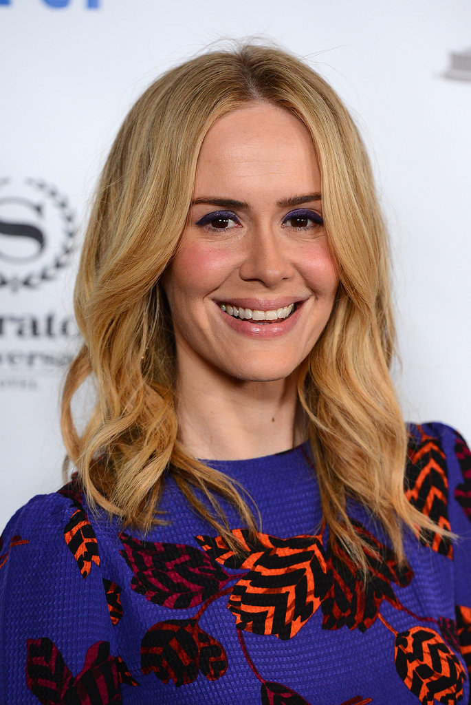 Sarah Paulson posed on her way into the Emmys cocktail party.