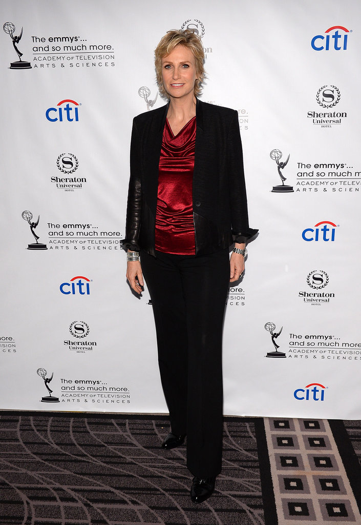 Jane Lynch celebrated at the Academy of Television Arts & Sciences cocktail party.