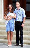 In July 2013, Kate and William posed for a photo-op with newborn Prince George while leaving St. Mary's Hospital.