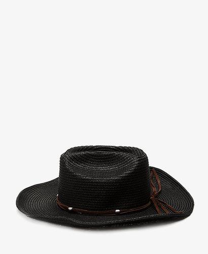 FOREVER 21 Western Straw Cowboy Hat