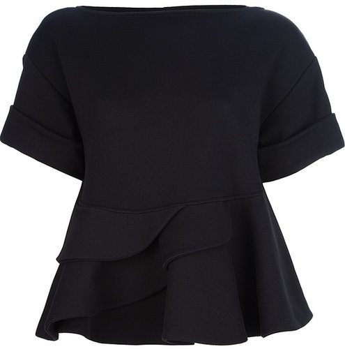 Givenchy ruffled short sleeved blouse