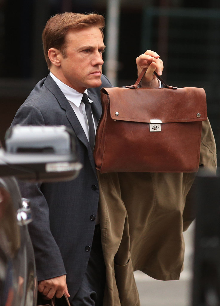 Christoph Waltz spent Monday filming scenes for Big Eyes in Vancouver, Canada.