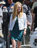 Julianne Moore showed off her new blond locks while shooting scenes for Maps to the Stars in LA on Sunday.