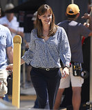Jennifer Garner got to work on Monday in LA, filming scenes for Alexander and the Terrible, Horrible, No Good, Very Bad Day.