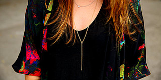 "DIY: Delicate Gold ""Y"" Chain Necklace"