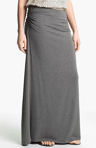 Caslon Convertible Maxi Skirt Medium Heather Grey Large