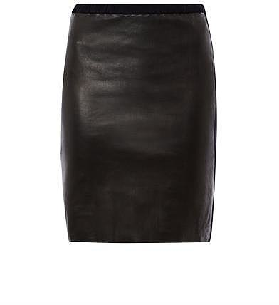 Isabel Marant Istone leather and suede pencil skirt