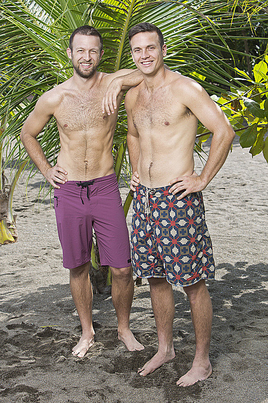 Aras and Vytas Baskauskas  Ages: 31 and 33 Relationship: Brothers Hometown: Santa Monica, CA Occupations: Musician and yoga instructor/math professor Alumni cred: Aras won Survivor: Panama