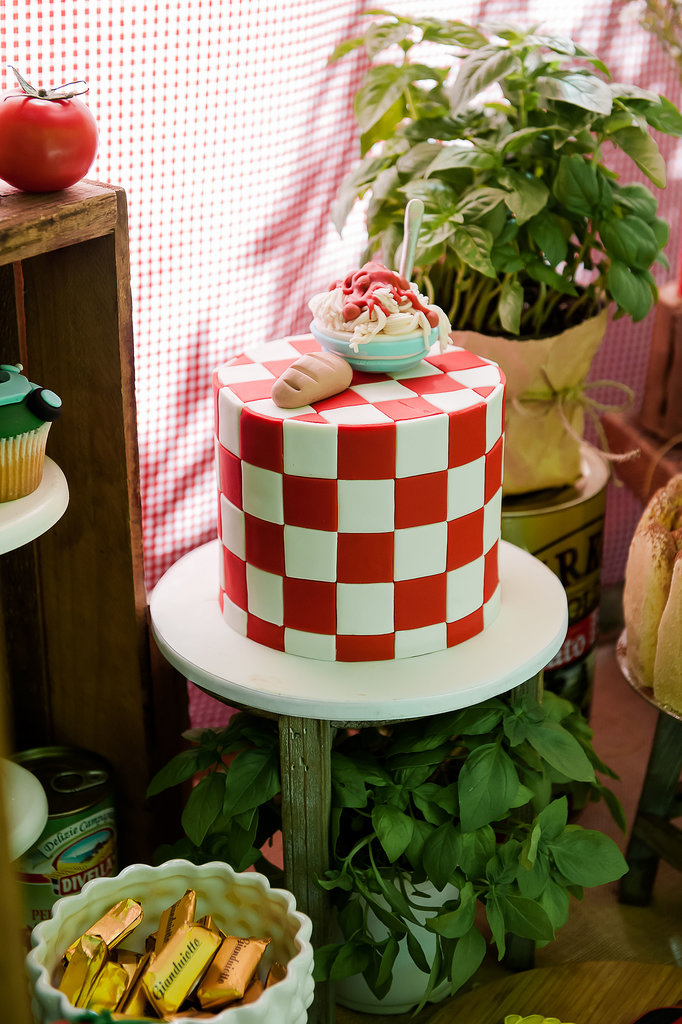 Pasta-Themed Cake | 66 Fabulous and Unique Birthday Cakes For Baby ...
