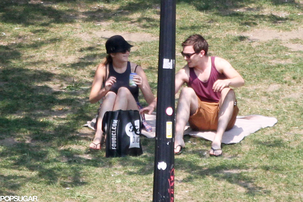 Jennifer Lawrence and Nicholas Hoult both laughed on a date in Montreal.