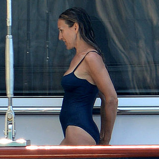 Sarah Jessica Parker Wearing a Swimsuit in Greece | Pictures