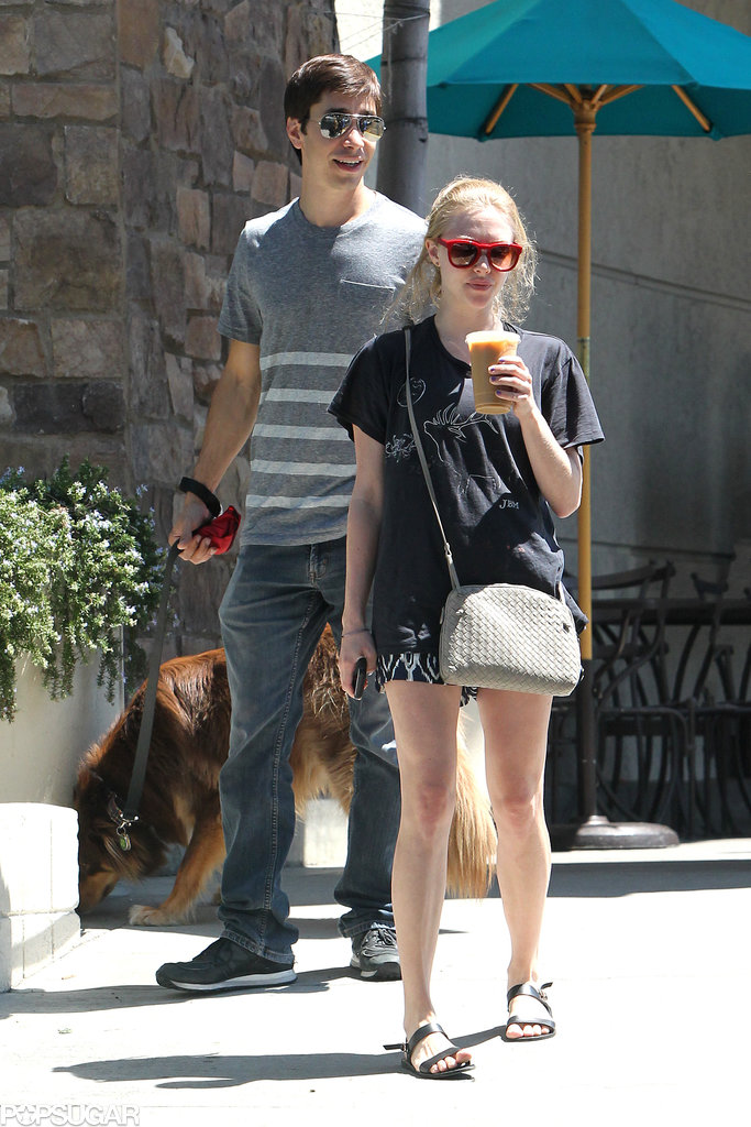 Amanda Seyfried and Justin Long headed to a park together in LA.