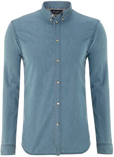 Men's Paul Smith Jeans Denim shirt with floral trim
