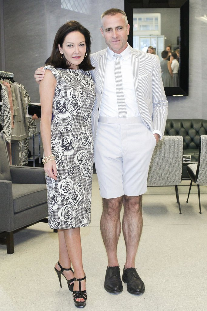 Margaret Russell and Thom Browne toasted to the September Architectural Digest issue in crisp ensembles.