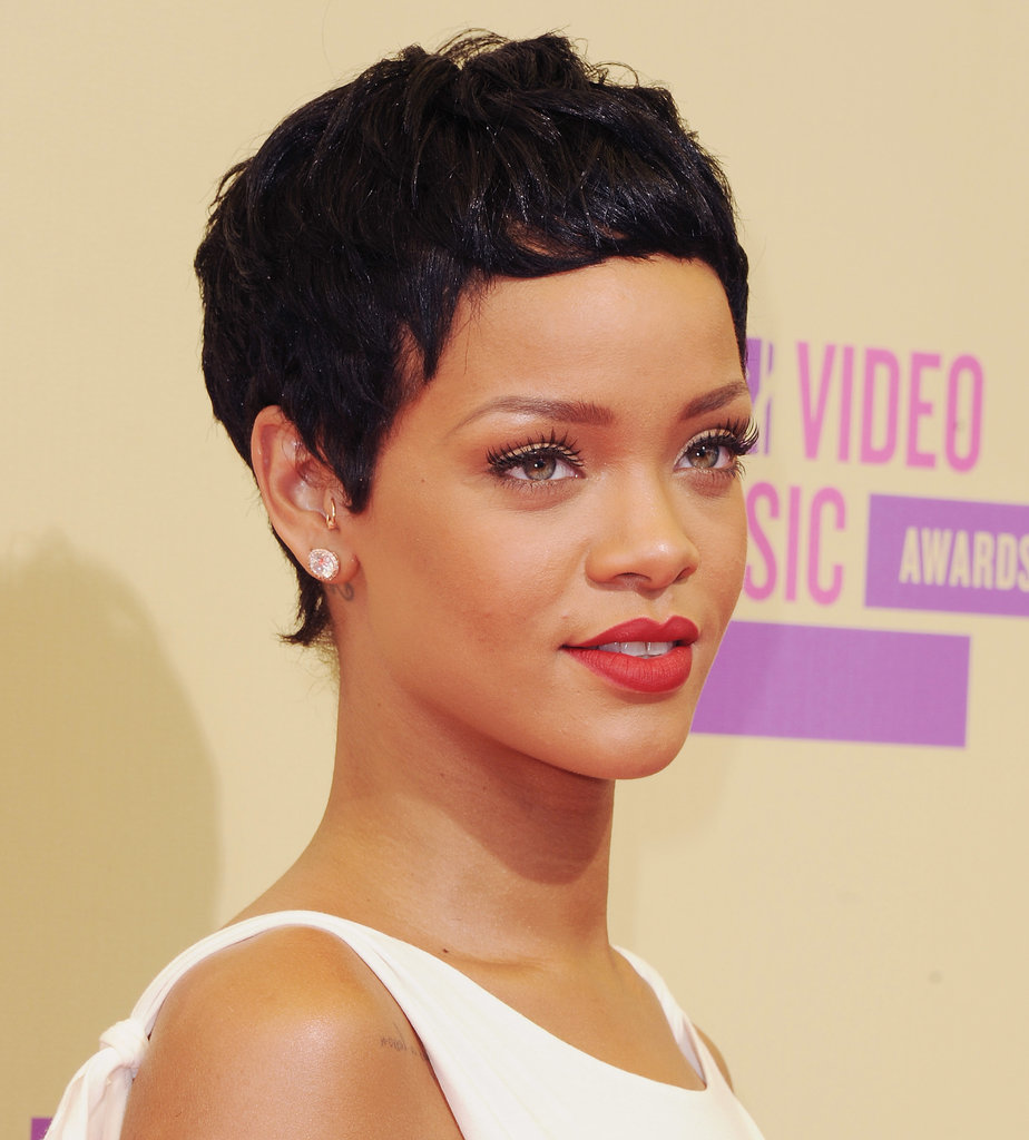 Rihanna had a Rosemary's Baby moment in 2012 when she hit the 2012 carpet with a short pixie cut —an unexpected (but welcome) hair update.