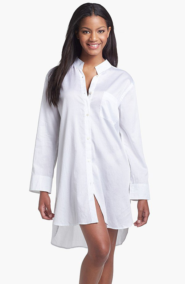 Donna Karan Woven Cotton Nightshirt