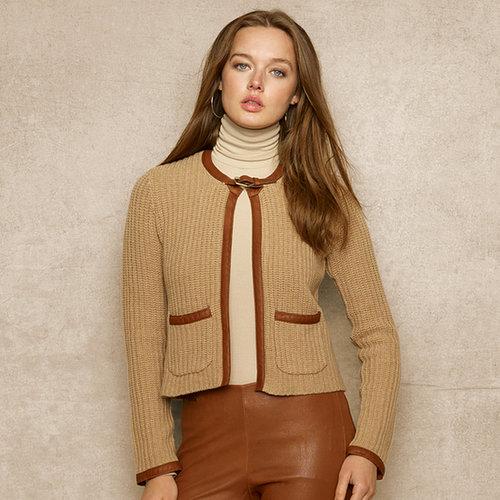 ウール & カシミヤ セーター ジャケット