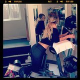 Ashley Tisdale obviously takes her legs workouts seriously.  Source: Instagram user ashleytis