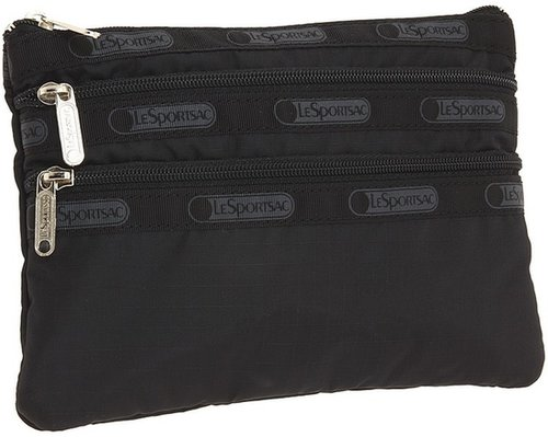 LeSportsac - 3 Zip Cosmetic Case (Black) - Bags and Luggage