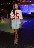 Hannah Bronfman went sporty as she posed poolside at the Soho House 10th anniversary party in New York City.
