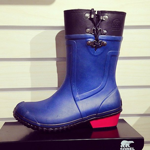 It's safe to say we're already coveting these Sorel rain boots.