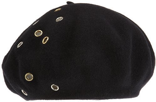 Scala Women's Wool Beret With Grommets