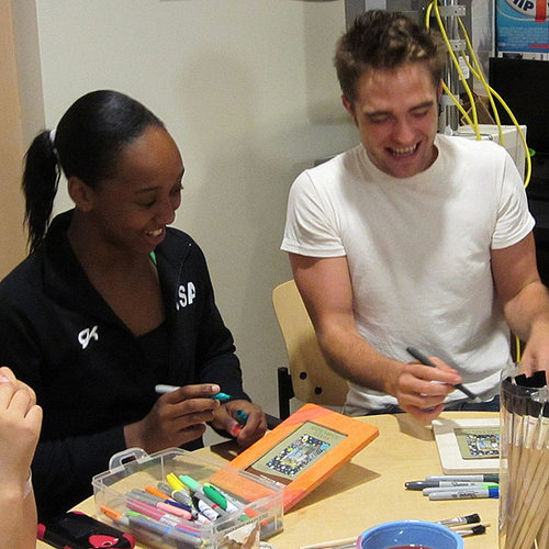 Robert Pattinson at Children's Hospital in LA