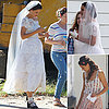 Katie Holmes Wearing a Wedding Dress on Set