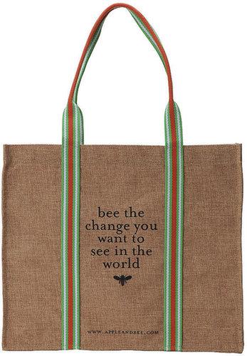 Apple & Bee Eco Tote Bag, Bee the Change 1 ea