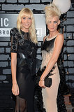 Miriam and Olivia Nervo posed together on the VMAs red carpet.