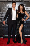 Robin Thicke and Paula Patton hit the VMAs red carpet together.