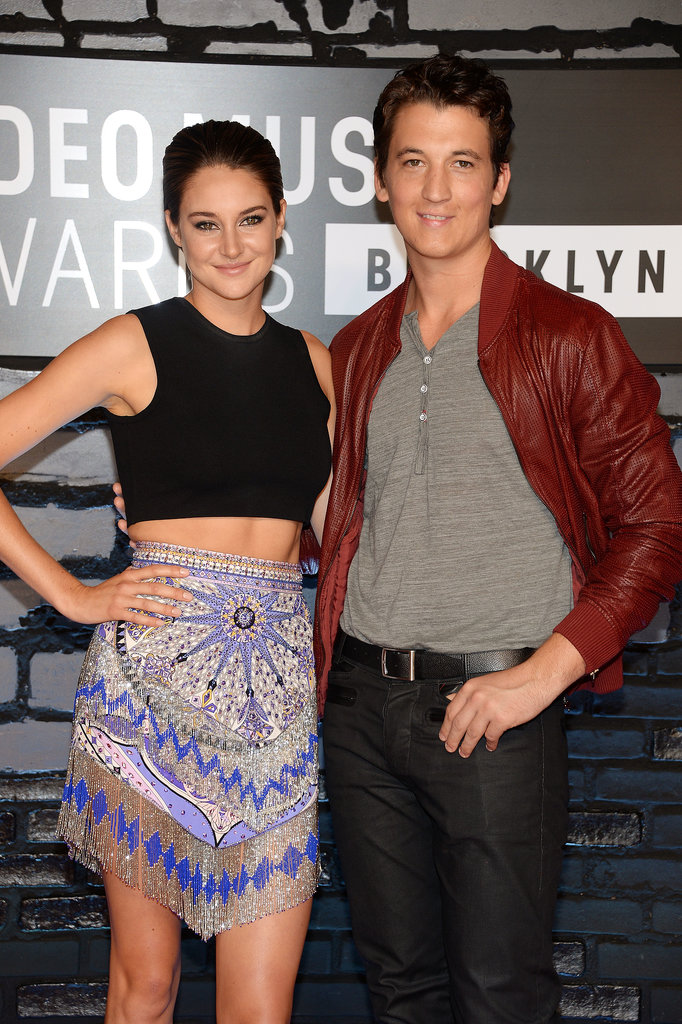 Shailene Woodley and Miles Teller posed together.