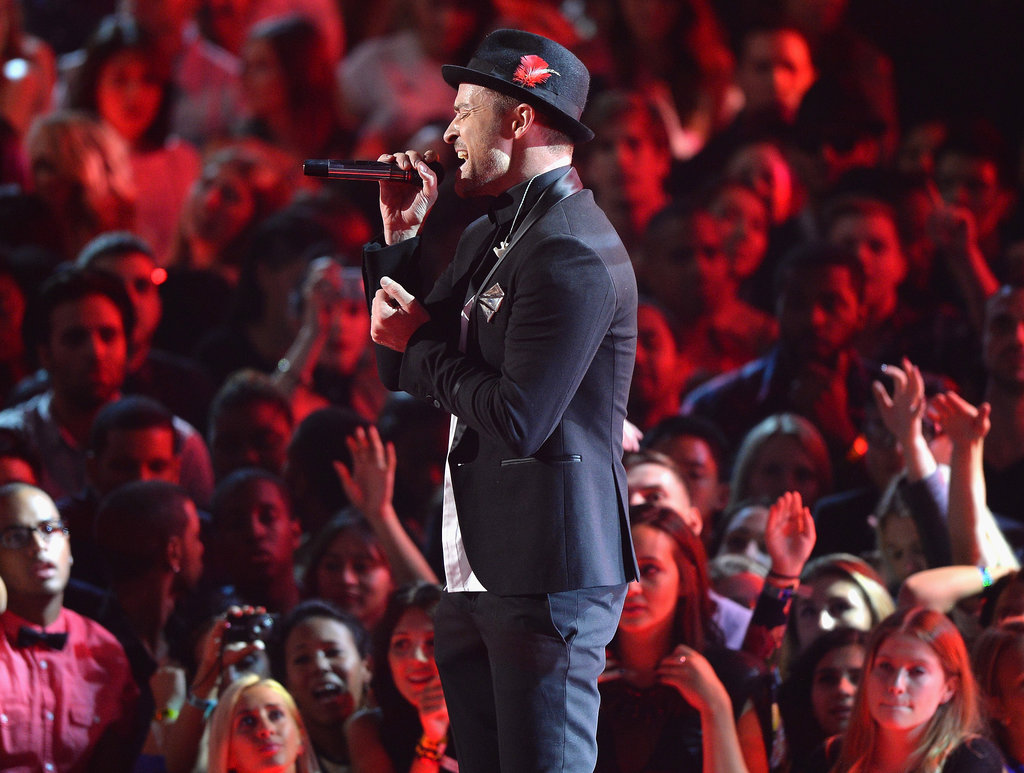 Justin Timberlake performed a medley of his hits at the VMAs.