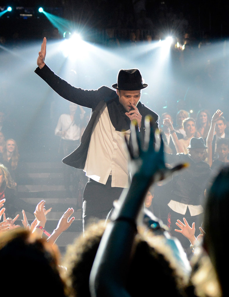 Justin Timberlake danced during his VMAs performance.