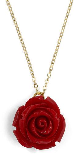 Retro Rosie Necklace in Red