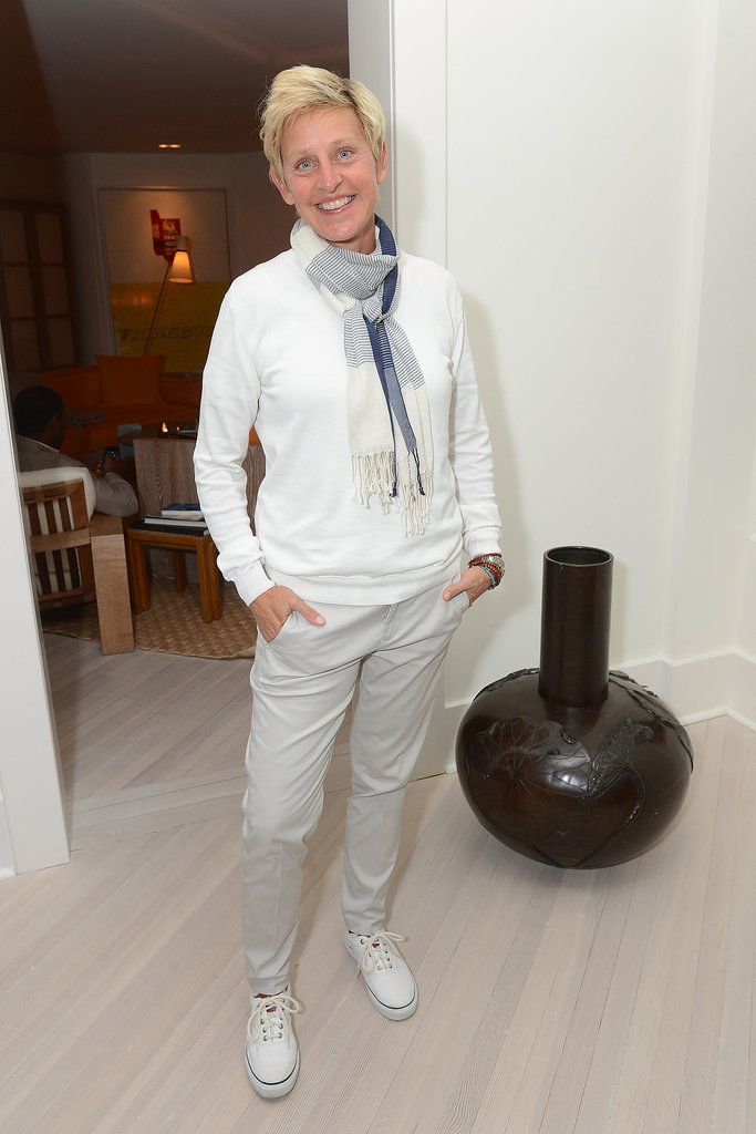 Ellen DeGeneres popped up in East Hampton for a private party in honor of the Apollo Theater in August.