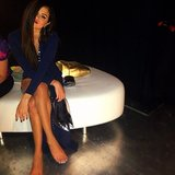 The shoes came off after the show was over for Selena Gomez. Source: Instagram user selenagomez