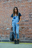 Make your denim days count with overalls — note: ankle booties and a basic tee make them entirely wearable.  Source: Le 21ème | Adam Katz Sinding