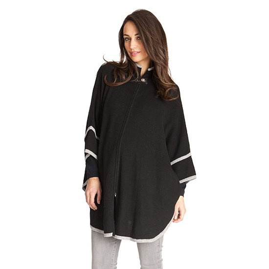 With a dramatic silhouette, this Seraphine knitted cape ($160) will keep you nice and warm throughout your pregnancy and beyond. Just throw on the wool knit blend and head out the door!