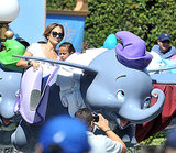 Jennifer Lopez enjoyed the Dumbo ride at Disneyland with her daughter, Emme.