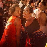 Miley Cyrus met up with Richard Simmons on the VMAs red carpet. Source: Instagram user mileycyrus