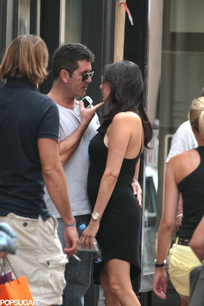 Simon Cowell got close with Lauren Silverman.