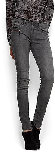 Super slim zipper jeans