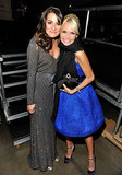 Lea Michele posed with her fellow Broadway star Kristin Chenoweth at a February 2011 musical tribute to Barbra Streisand in LA.