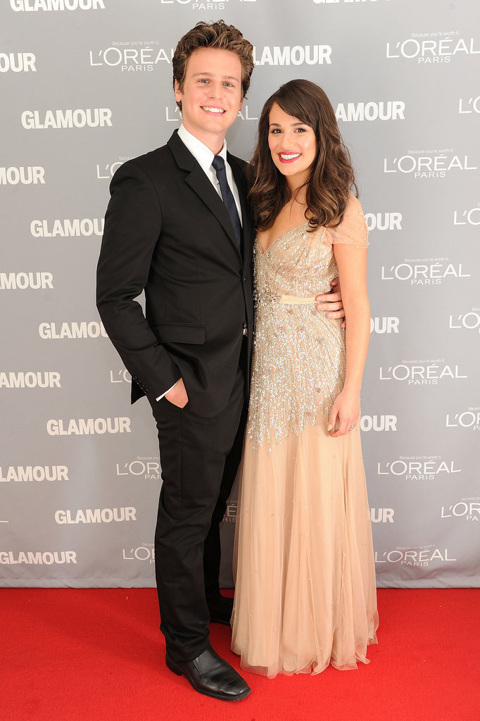 Lea Michele brought her best friend, Jonathan Groff, as her date to Glamour's Women of the Year Awards in NYC in November 2011.
