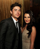 Lea Michele showed off her sultry side with Zac Efron at the premiere party for New Year's Eve in LA in December 2011.