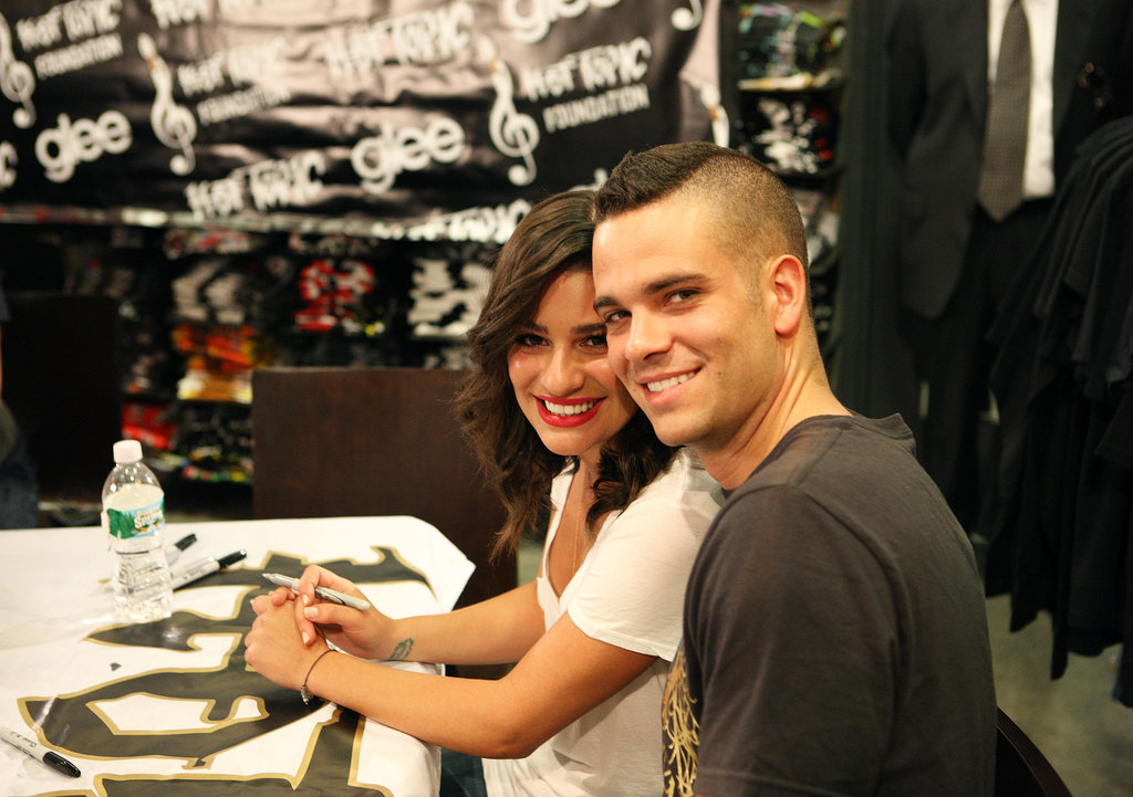 We love this adorable snap of Lea Michele and her Glee costar, Mark Salling, during their Gleek Tour in New Jersey back in August 2009.