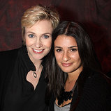 Lea Michele and Jane Lynch checked out the Broadway show Love, Loss, and What I Wore in November 2009.
